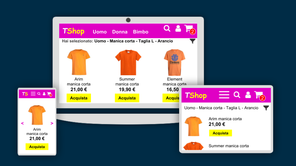 e-Commerce responsive